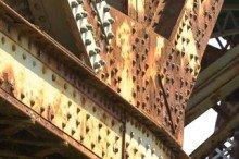 metal corrosion of bridge